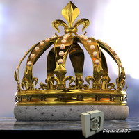 pearl crown 3d c4d
