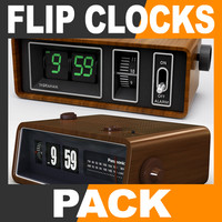 Retro Style Flip Clocks Pack