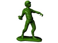 3d fbx plastic army man -