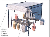 pottery stall 3d model
