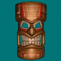 Tiki Mask Ocean God