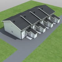 3d townhouse houses model