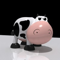 toy cow character 3d max