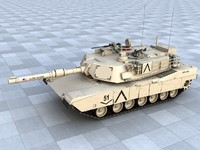 abram m1a2 battle tank 3d max
