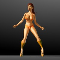 3d bonita cartoon girl