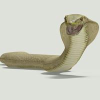 cobra snake 3d max
