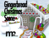 Gingerbread Christmas Scene