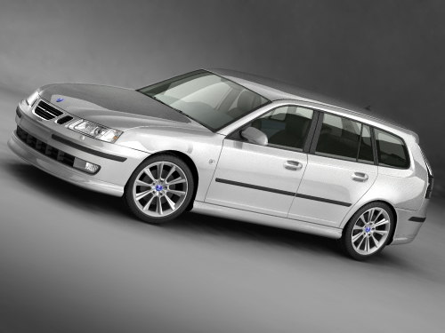 3d model saab 9-3 sportcombi sport - Saab 9-3 sportcombi 2006... by squir