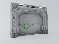 maya sci-fi door