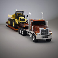 Titan,  Lowboy and Dump Truck