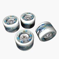 skate wheels 3d model