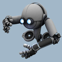 3ds max worker robot rigged character
