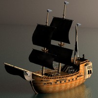 pirate galleon 3d x