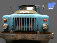 3d gaz 1973 truck model