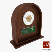 3d office desk clock model