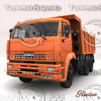 KAMAZ 6520 dumptruck Russian car