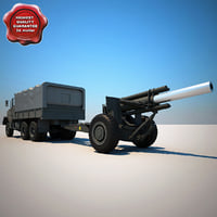 M939 Truck and M114A1 155 mm Howitzer V1