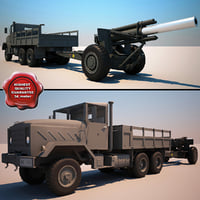 M939 Truck and M114A1 155 mm Howitzer V2