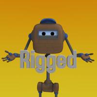 cartoon robot character 3ds