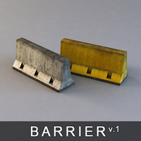 Concrete Barrier (Road block)