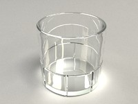 Drinking Glass 4 - vray materials