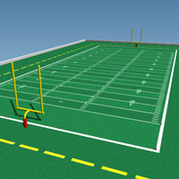 realistic football field 3d model