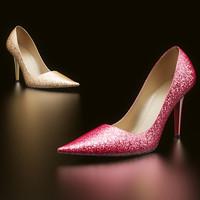 realistic heels 3d model