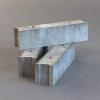 concrete blocks 3ds