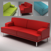 3d simple sofa