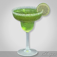 margarita cocktail 3d model