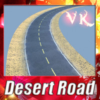 Desert Road - Model and High resolution Texture