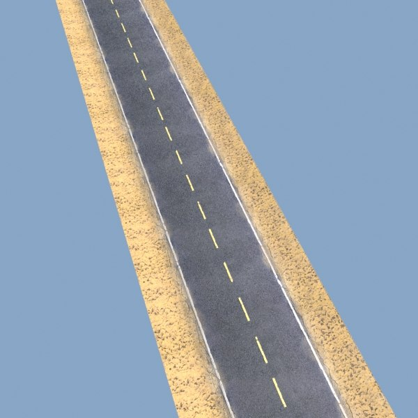 3d desert road resolution - Desert Road - Model and High resolution Texture... by VKModels