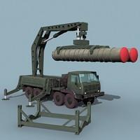 soviet sa-10 sa-20 loader 3d lwo
