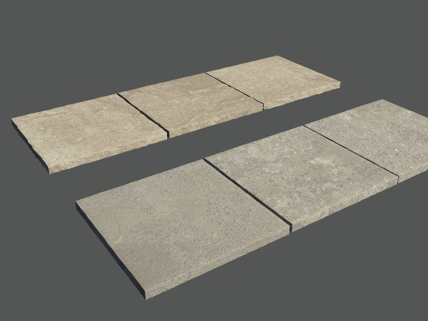 Six paving Slabs