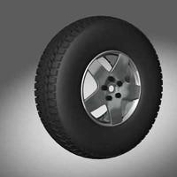 3d model car tyre