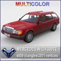 3d w124 touring 300d model
