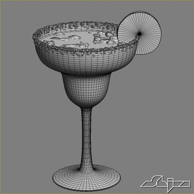 margarita cocktail 3d model - Margarita cocktail... by shiva3d