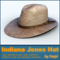 3d model indiana jones hat