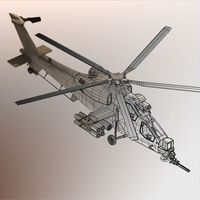 mangusta military helicopter 3ds - Mangusta helicopter... by 3dmediatoonz