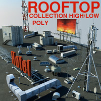 Rooftop items collection *high/low poly versions*(1)