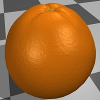 orange fruit 3d model