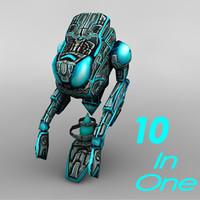sci-fi alien characters 3d 3ds