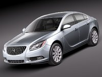 3d model of buick regal 2011