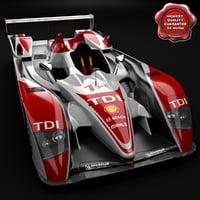 3dsmax realistic audi r10 race car