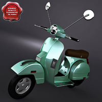 3d classic vespa scooter