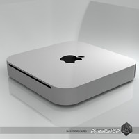 3d apple mac mini desktop model