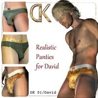 3d model david panties sexy -