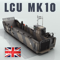 3d lcu mk10 landing craft model
