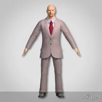 man people office 3d model