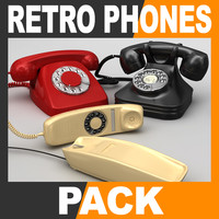 Retro Style Telephone Pack - Phone Collection